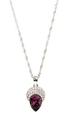 Swarovski Elements Crystal Acorn Pendant Necklace Rhodium Plated Authentic 2298 • 13.99$