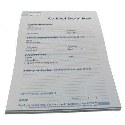 £7 • Buy Wallace Cameron Accident Report Book Small A5 Ref 5401015 X 4