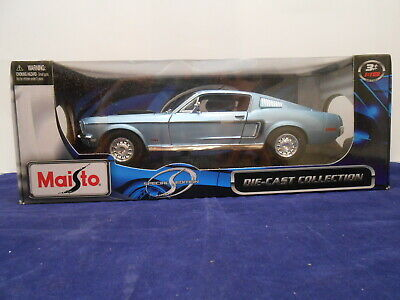 $22.50 • Buy Maisto 1968 Ford Mustang GT Cobra Jet 1/18 Die-Cast Collection Special Edition