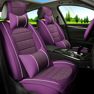 $114.96 • Buy Deluxe Car Seat Covers 5-Sits Woman Cushions PU Leather Sponge Auto Accessories