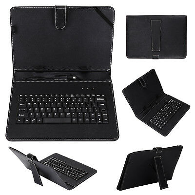 £9.19 • Buy Keyboard And Leather Case 2 In 1 With Suitable For 10  Inch Android Tablet Black