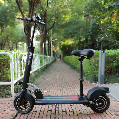 AU718.69 • Buy 500W 48V Electric Scooter With Seat Portable Scooter Black