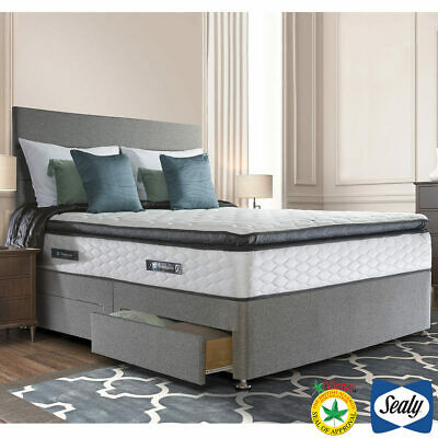 £980.39 • Buy Sealy Symphony Posturetech Memory Mattress And Divan In Pebble Grey, Double