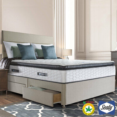 £889.96 • Buy Sealy Symphony Posturetech Memory Mattress And Divan In Fawn, Double