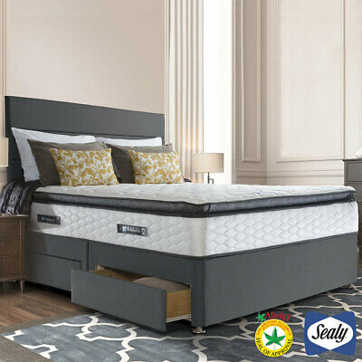 £942.39 • Buy Sealy Symphony Posturetech Memory Mattress And Divan In Charcoal, Double