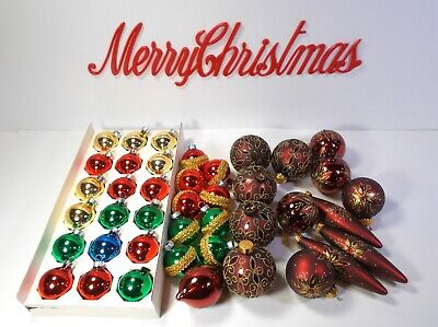 $ CDN29.95 • Buy Vintage Christmas Lot Collectible Glass Tree Ornaments/Decorations 41 Piece