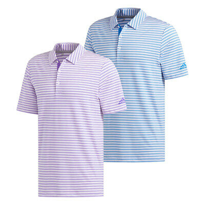 $24.99 • Buy New Adidas Golf Ultimate365 Two-Color Stripe Polo Shirt  UPF 50+ UV PROTECTION