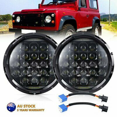 AU88.95 • Buy Pair 7Inch Round LED Headlights Hi/Lo Beam W/ DRL For Land Rover Defender 90 110