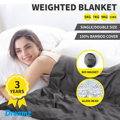 AU79.99 • Buy DreamZ Weighted Blanket Heavy Gravity Deep Relax Bamboo Adults Kids 5/7/9/11KG