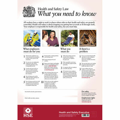 £18.89 • Buy Hse Health And Safety Law Poster A2