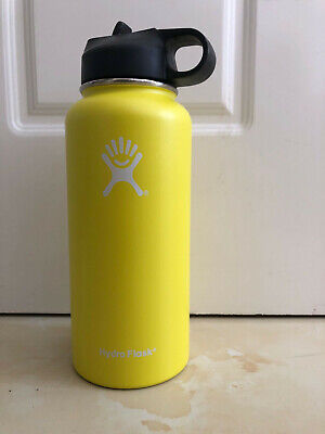Hi 32oz Hydro Flask Stainless Steel Insulation Wide Mouth Straw Yellow • 8.50$