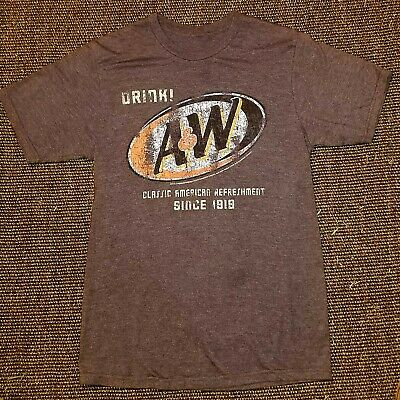 A&W Root Beer Brown T-shirt Size Medium • 5.62£