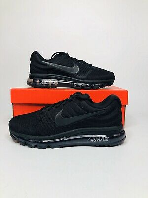 $124.95 • Buy Nike Air Max 2017 Triple Black 849559-004 Running Shoes Men's Sneakers