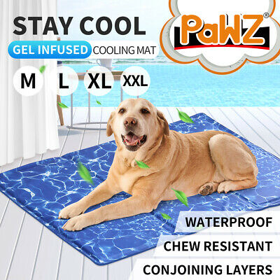 AU32.99 • Buy PaWz Pet Cooling Mat Gel Mats Bed Cool Pad Puppy Cat Non-Toxic Beds Summer 4Size