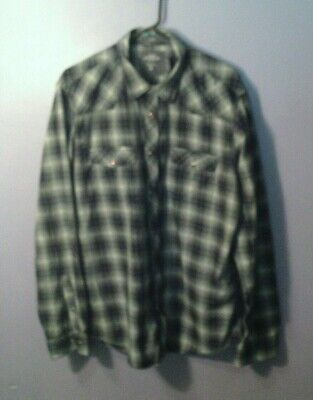 L.O.G.G. (Label Of Graded Goods) SHIRT- H&M Fitted, Rugged Flannel - XL (17, 37) • 2.27$