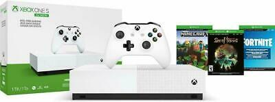 $239.99 • Buy NEW Xbox One S 1TB All Digital Edition Console With 3 Games Fornite Gift Bundle