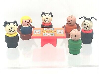 $6 • Buy Vintage Fisher Price Little People 1970's Chairs Table Dogs Boy Girl Replacement