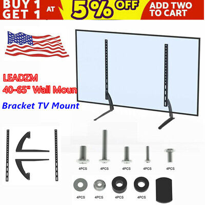 TV Mount Wall Mount 40-65  Bracket LCD Screen TV Stand Table Top Black US Fast • 11.88$