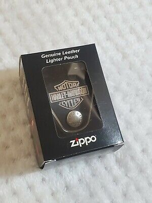 $10.99 • Buy Authentic Zippo Harley Davidson Genuine Leather Lighter Pouch With Box