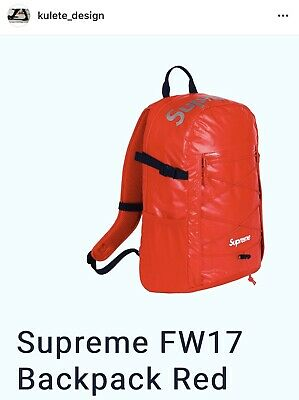 $ CDN514.69 • Buy Authentic FW17 Supreme Red Backpack, Shipping Fast