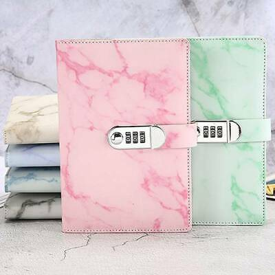 £10.43 • Buy Marbled Journal Wired Diary Lockable NoteBook With Password Code Lock T