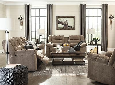 $1050 • Buy Ashley Furniture Workhorse Reclining Sofa And Loveseat 5840188