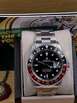 $ CDN15078.25 • Buy Rolex GMT Master II 16710 Coke Red And Black Stainless Steel Box Booklets