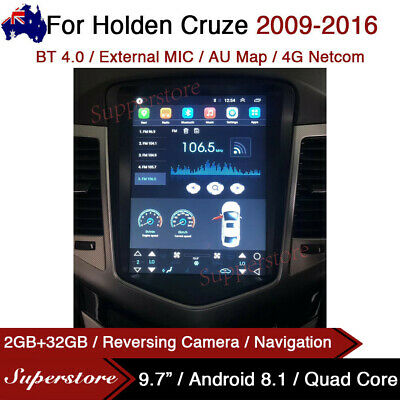 AU447.96 • Buy 9.7  Tesla Style Android 9.0 Car Stereo GPS Navi  For Holden Cruze 2009-2016 4G