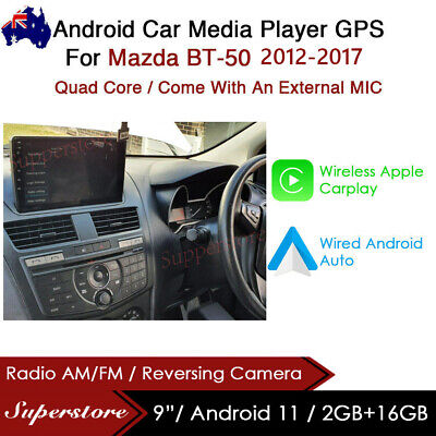 """AU399 • Buy 9"""" Android 9.1 Car Stereo Non Dvd Player GPS Head Unit For Mazda BT-50 2012-2017"""