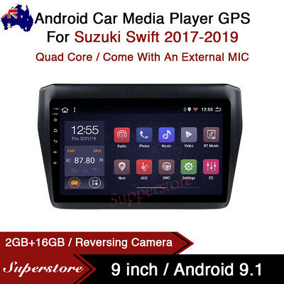"AU399 • Buy 9"" Android 9.1 Car Stereo Media Player GPS Head Unit For Suzuki Swift 2017-2019"