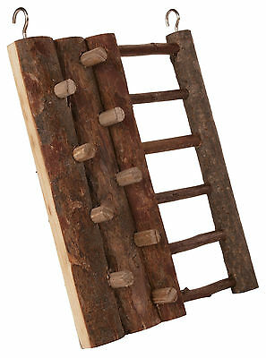 Natural Wooden Climbing Wall With Ladder Hamster Mouse Gerbils Toy • 7.49£