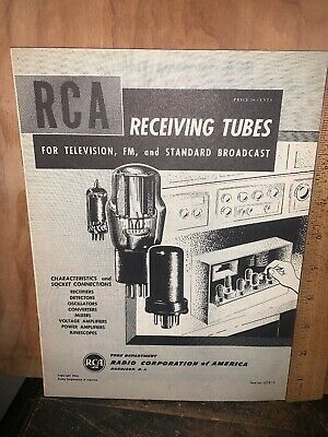 $29.97 • Buy Rca Receiving Tubes For Television,FM & Standard Broadcast Catalog.
