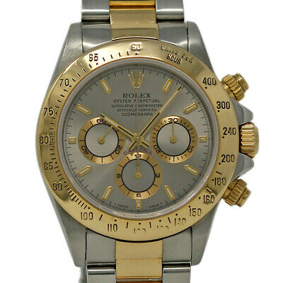 $13650 • Buy Rolex Daytona 16523 Stainless Steel Yellow Gold Silver Zenith 1997 Warnty #384-1