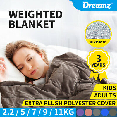 AU68.99 • Buy DreamZ Weighted Blanket Heavy Gravity Adults Deep Relax  Kids Adult 2.2/5/7/9KG