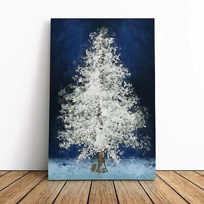 Tree At Winter Flowers Landscape Scenery Nature Framed Canvas Print Wall Art • 22.95£
