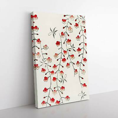 Cherry Blossom Tree Flowers Asian Watanabe Seitei Framed Canvas Print Wall Art • 22.95£