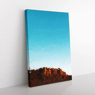 Joshua Tree National Park In Abstract Landscape Framed Canvas Print Wall Art • 22.95£