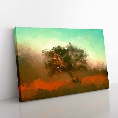 Tree In Isolation In Abstract Landscape Nature Framed Canvas Print Wall Art • 22.95£