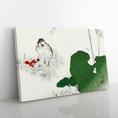 Eurasian Tree Sparrow Asian Bird Watanabe Seitei Framed Canvas Print Wall Art • 22.95£