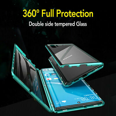 AU21.26 • Buy Case For Samsung Galaxy Note 10+ S9 S8 Plus 360° Magnetic Glass Protection Cover