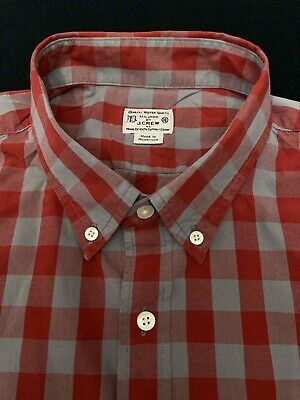 $13.95 • Buy J.CREW Red Gray Gingham Button Down Shirt XL Extra Large