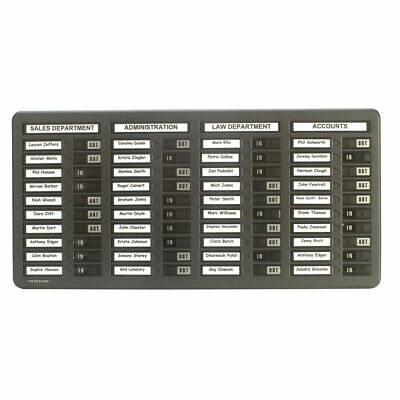 Indesign 40 Names In/Out Board Grey WPIT40 • 74.99£