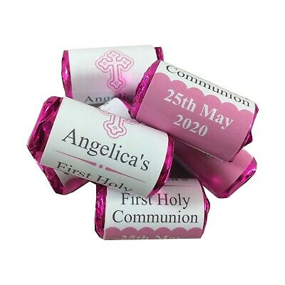 Personalised First Holy Communion Love Heart Sweet Favours Gifts  • 7.99£