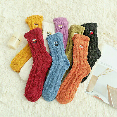 $4.24 • Buy Women Coral Velvet Soft Bed Floor Cartoon Socks Fluffy Warm Winter Holiday Gift
