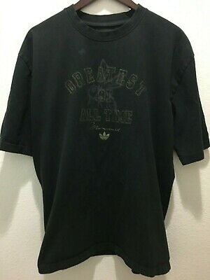 $15 • Buy ADIDAS Muhammad Ali  Greatest Of All Time Tee Shirt Top Black Large L