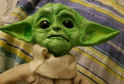 $64 • Buy Baby Yoda Doll From Mandalorian Star Wars Figure Handcrafted