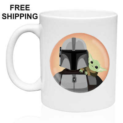 $13.99 • Buy  Mandalorian And Baby Yoda, Birthday, Christmas Gift, White Mug 11 Oz- Coffee