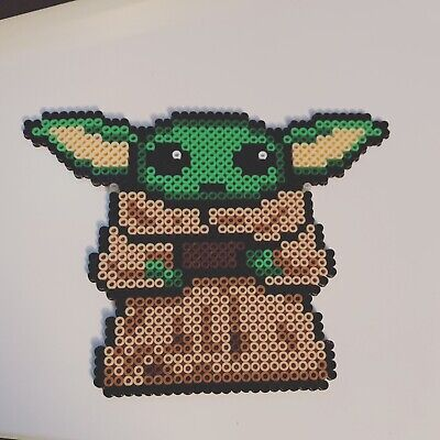 $10 • Buy Baby Yoda Perler Bead Decoration Homemade Pixel Art