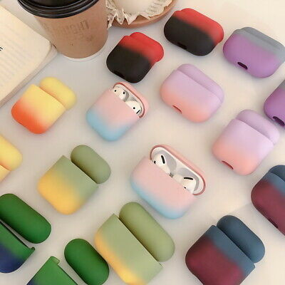 $ CDN4.22 • Buy Earphone Gradient Case Cover Protective For Apple AirPods Pro 1st 2nd Hard Cover
