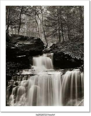 $1.99 • Buy Waterfalls In Black And White Art/Canvas Print. Poster, Wall Art, Home Decor - C